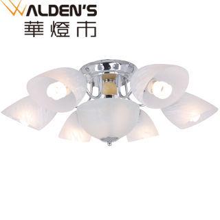 【華燈市】彼得6+1半吸頂燈(簡約設計風)