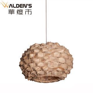 【華燈市】自然風情木竹編單燈吊燈(自然鄉村風情)