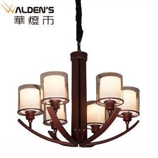 【華燈市】約克鄉村風6燈吊燈(自然花園風)