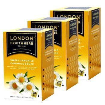 【London Fruit Herb】英國芙賀茶x3件組-蜜香甘菊(1.5gx20入/盒)