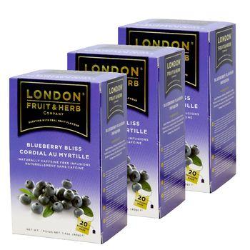【London Fruit Herb】英國芙賀茶x3件組-藍莓喜悅(2gx20入/盒)