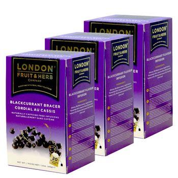 【London Fruit Herb】英國芙賀茶x3件組-黑醋栗莓果(2gx20入/盒)