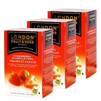 【London Fruit Herb】英國芙賀茶x3件組-草莓香草(2gx20入/盒)