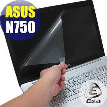 【EZstick】ASUS N750 N750JV  專用 靜電式筆電LCD液晶螢幕貼 (鏡面螢幕貼)