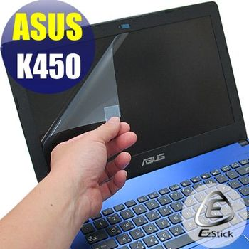 【EZstick】ASUS K450 K450V 專用 靜電式筆電LCD液晶螢幕貼 (鏡面螢幕貼)