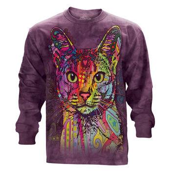 『摩達客』(預購)美國進口The Mountain 彩繪貓 純棉長袖T恤
