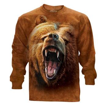 『摩達客』(預購)美國進口The Mountain 棕熊怒吼 純棉長袖T恤