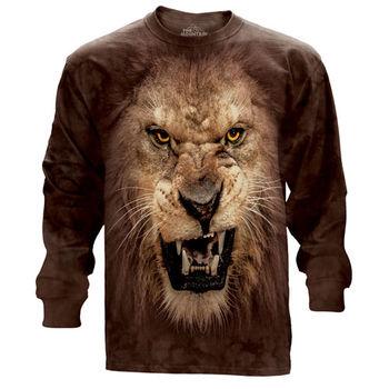 『摩達客』(預購)美國進口The Mountain 獅吼臉 純棉長袖T恤