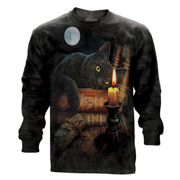『摩達客』(預購)美國進口The Mountain 魔法貓時刻 純棉長袖T恤