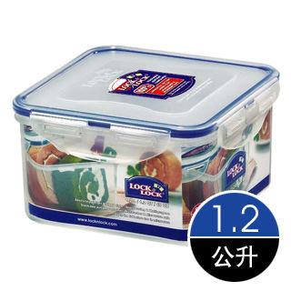LockLock微波加熱方型保鮮盒1.2公升(HPL822D)