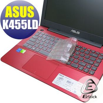 【EZstick】ASUS K455 K455LD 系列專用 奈米銀抗菌 TPU 鍵盤保護膜