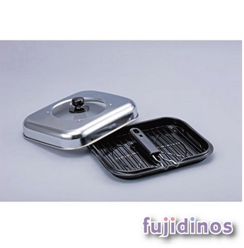 Fujidinos【防煙設計】摺疊式把手萬用燒烤鍋