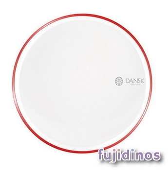 Fujidinos【DANSK】琺瑯材質餐盤‧21cm(紅色)