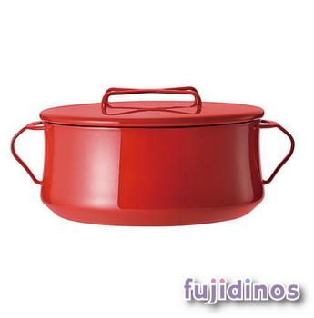 Fujidinos【DANSK】琺瑯雙耳燉煮鍋‧26cm(紅色)