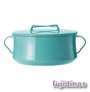 Fujidinos【DANSK】琺瑯雙耳燉煮鍋‧23cm(藍綠色)