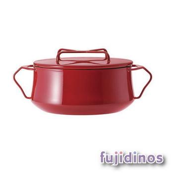 Fujidinos【DANSK】琺瑯雙耳燉煮鍋(紅色)