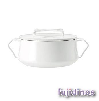 Fujidinos【DANSK】琺瑯雙耳燉煮鍋(白色)