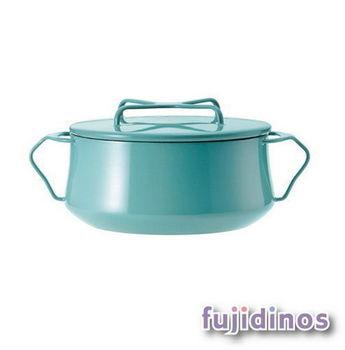 Fujidinos【DANSK】琺瑯雙耳燉煮鍋(藍綠色)