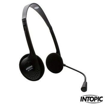 INTOPIC 廣鼎-頭戴式耳機麥克風 SR-MK02
