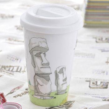 【Bella House】我不是紙杯  ( 智利 復活島-莫埃Moai巨人石雕群像 )