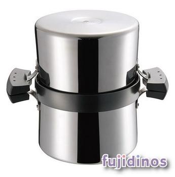 Fujidinos【UCHICOOK】健康兩用油炸鍋‧濾油壺(黑色)