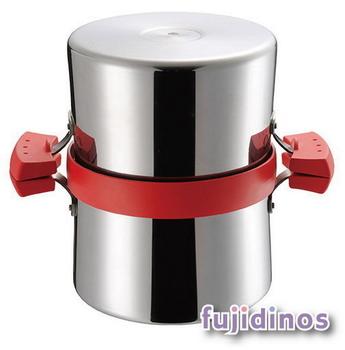 Fujidinos【UCHICOOK】健康兩用油炸鍋‧濾油壺(紅色)