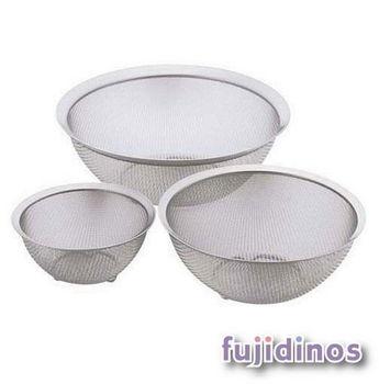 Fujidinos【la base有元葉子】不鏽鋼圓形過濾網・三件組