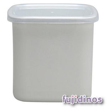 Fujidinos【野田琺瑯】方型附蓋儲物罐(大型)