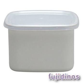 Fujidinos【野田琺瑯】方型附蓋儲物罐(中型)