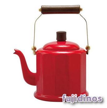 Fujidinos【野田琺瑯】品味古典造型手沖壺(紅色)