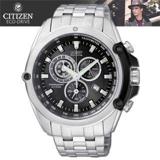 【CITIZEN 星辰】光動能三眼時尚紳士錶(AT0787-55F)