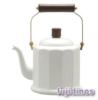 Fujidinos【野田琺瑯】品味古典造型手沖壺(白色)