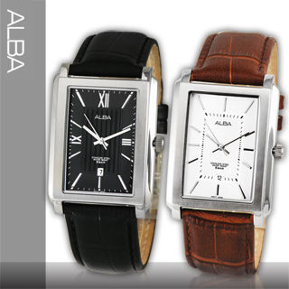 【SEIKO 精工 ALBA】時尚方形紳士男錶(AG8295X-AG8297X)