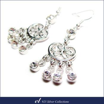 el非銀系列 - 施華洛世奇水晶鑽耳環 Crown