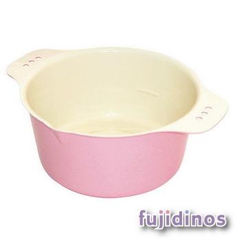 Fujidinos【小巧可愛】多彩迷你油炸鍋(粉紅色)