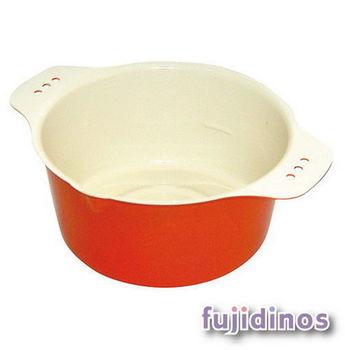 Fujidinos【小巧可愛】多彩迷你油炸鍋(橘色)