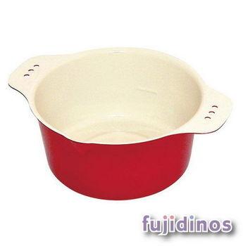 Fujidinos【小巧可愛】多彩迷你油炸鍋(紅色)
