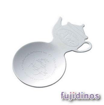 Fujidinos【18-8不鏽鋼】茶壺造型小碟子(銀色)