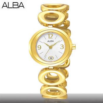 【ALBA 亞柏精工錶】白面戀天使佳人圓鍊女款手錶(AXT440X1)