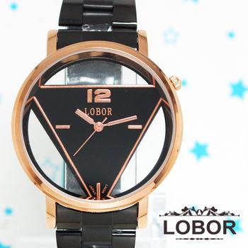 LOBOR 金色時尚鏤空造型錶