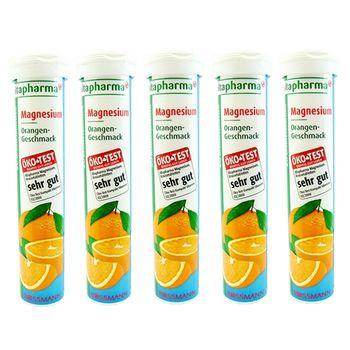 德國 ROSSMANN 鎂質 發泡錠 (柑橘口味 20 錠)x5入