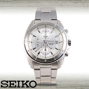【SEIKO 精工】三眼賽車計時腕錶(SNDB61P1)