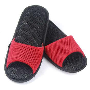 AC Rabbit 開口型低均壓氣墊拖鞋(馬卡龍色系)-熱情紅