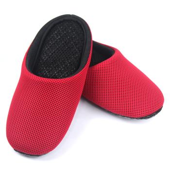 AC Rabbit 低均壓氣墊拖鞋(馬卡龍色系)-熱情紅