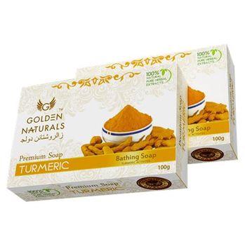 【新貨到-印度GOLDEN NATURALS】薑黃皂(15入特惠組)