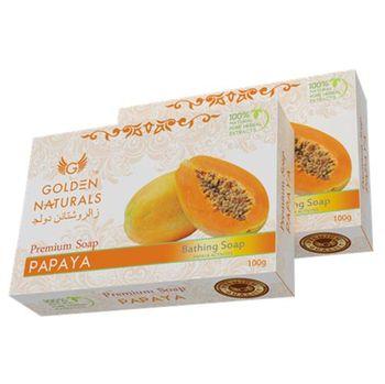【新貨到-印度GOLDEN NATURALS】木瓜美膚皂(15入特惠組)