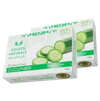 【新貨到-印度GOLDEN NATURALS】小黃瓜草本香皂(15入特惠組)