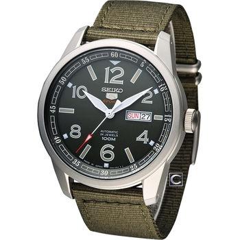 SEIKO 精工5號 軍事風格經典械腕錶 4R36-03N0G SRP621J1
