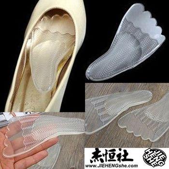 JHS杰恆社鞋墊款121舒適女對一五指波紋鞋墊半碼墊前掌墊後跟貼高跟前掌跟貼加厚矽膠