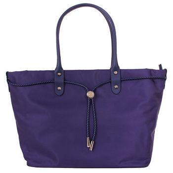 agnes b.- 帆布麻繩束袋手提包(大/紫)